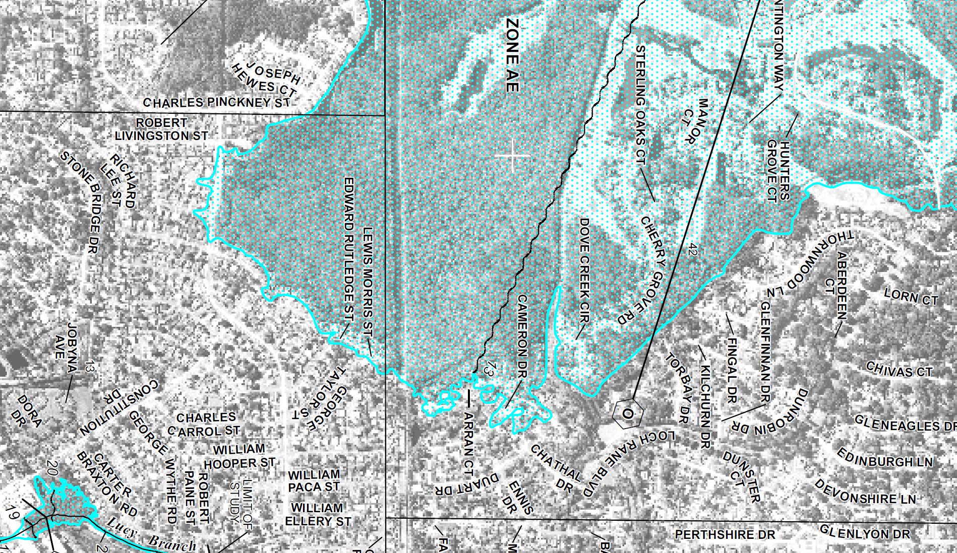 New FEMA Flood Map Loch Rane Neighborhood In Orange Park FL - Florida flood plain map