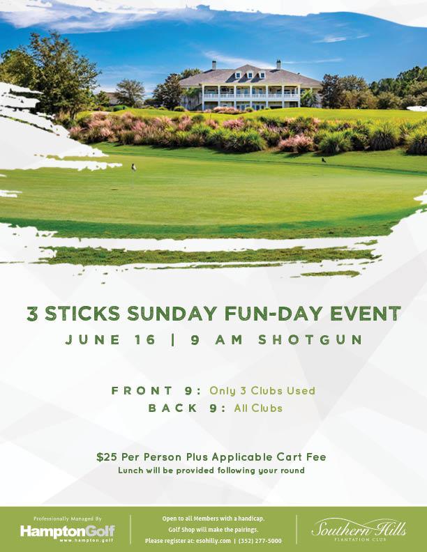 3 Sticks Sunday Fun-Day Event