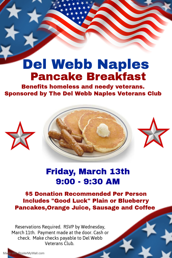 Veterans Club Pancake Breakfast