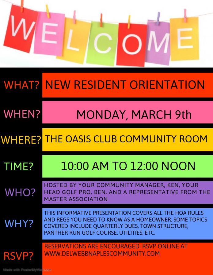 New Resident Orientation