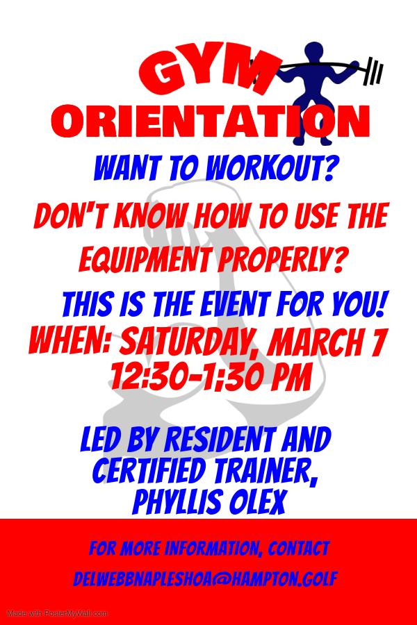 Gym Orientation