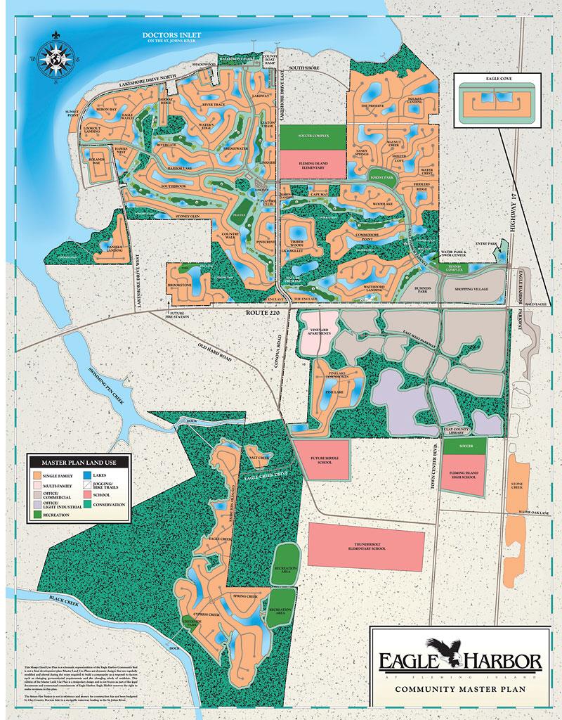 Eagle Harbor Map Eagle Harbor Neighborhood in Fleming Island FL
